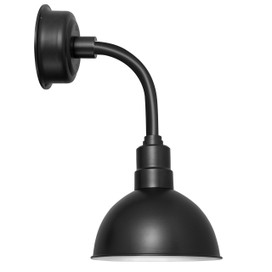 "14"" Blackspot LED Sconce Light with Trim Arm in Matte Black"