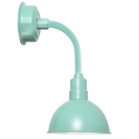 "14"" Blackspot LED Sconce Light with Trim Arm in Jade"