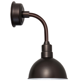 "14"" Blackspot LED Sconce Light with Trim Arm in Mahogany Bronze"