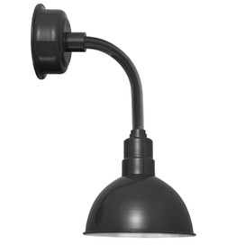 "8"" Blackspot LED Sconce Light with Trim Arm in Black"
