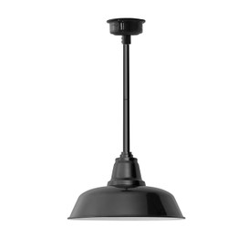 "10"" Goodyear LED Pendant Light in Black with Black Downrod"