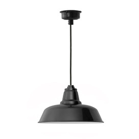 "12"" Goodyear LED Pendant Light in Black"