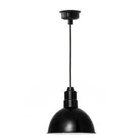 "12"" Blackspot LED Pendant Light in Black"
