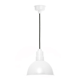 "10"" Blackspot LED Pendant Light in White"