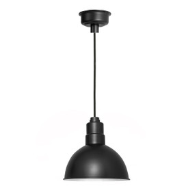 "8"" Blackspot LED Pendant Light in Matte Black"