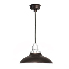 "12"" Peony LED Pendant Light in Mahogany Bronze"
