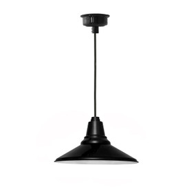 "18"" Calla LED Pendant Light in Black"