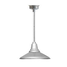 "12"" Calla LED Pendant Light in Galvanized Silver with Galvanized Silver Downrod"