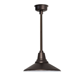 "12"" Calla LED Pendant Light in Mahogany Bronze with Mahogany Bronze Downrod"