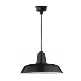 "16"" Oldage LED Pendant Light in Black"