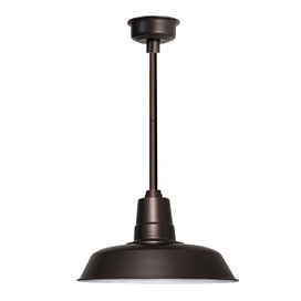 "22"" Oldage LED Pendant Light in Mahogany Bronze with Mahogany Bronze Downrod"