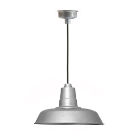 "14"" Oldage LED Pendant Light in Galvanized Silver"