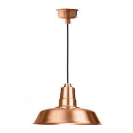 "18"" Oldage LED Pendant Light in Solid Copper"