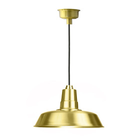 "18"" Oldage LED Pendant Light in Solid Brass"