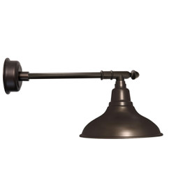 "12"" Dahlia LED Barn Light with Victorian Arm in Mahogany Bronze"