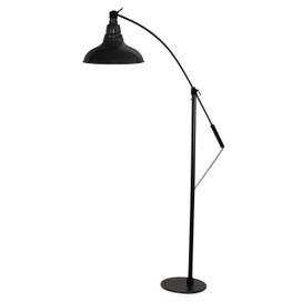 12 peony led industrial floor lamp black cocoweb front view of 8 dahlia led farmhouse floor lamp black aloadofball Choice Image