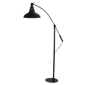 "12"" Dahlia LED Industrial Floor Lamp - Black"