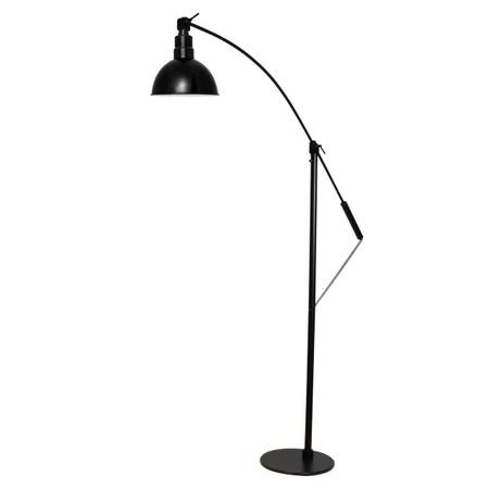 """Full View of 12"""" Blackspot LED Floor Lamp- Black"""