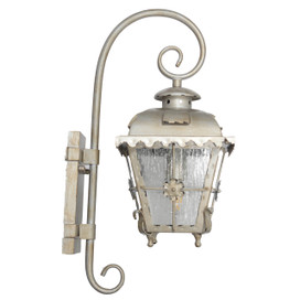 Tullamore Outdoor LED Hanging Wall Lantern - Large