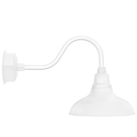 """8"""" Dahlia LED Barn Light with Contemporary Arm in White"""