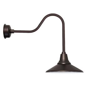 """20"""" Calla LED Barn Light with Sleek Arm in Mahogany Bronze"""