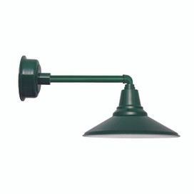 "20"" Calla LED Barn Light with Metropolitan Arm in Vintage Green"