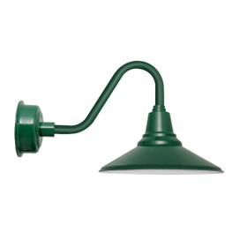 "20"" Calla LED Barn Light with Vintage Arm in Vintage Green"