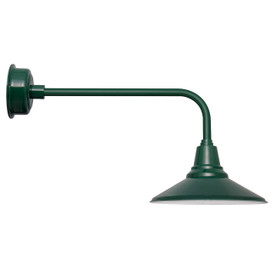 "20"" Calla LED Barn Light with Traditional Arm in Vintage Green"