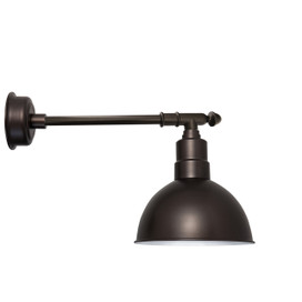 "14"" Blackspot LED Barn Light with Victorian Arm - Mahogany Bronze"