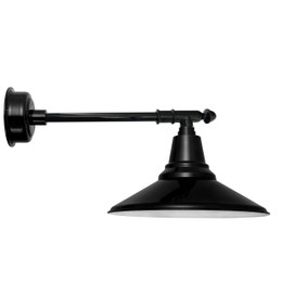 "16"" Calla LED Barn Light with Victorian Arm - Black"