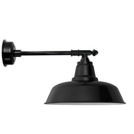 "12"" Goodyear LED Barn Light with Victorian Arm - Black"