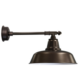 "12"" Goodyear LED Barn Light with Victorian Arm - Mahogany Bronze"