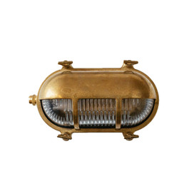 Renmark Bulkhead Wall Sconce in Brass