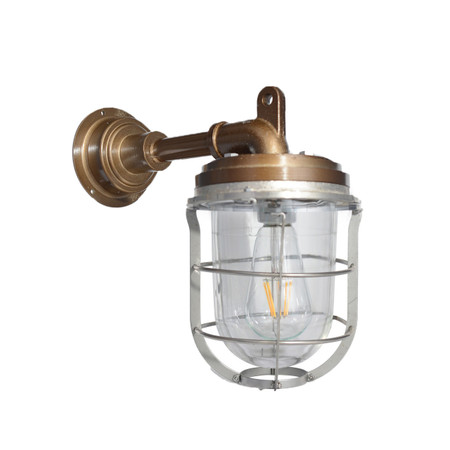 Merveilleux ... Palmerston Nautical Wall Sconce In Vintage Brass. Image 1
