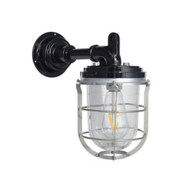 Palmerston Nautical Wall Sconce in Black