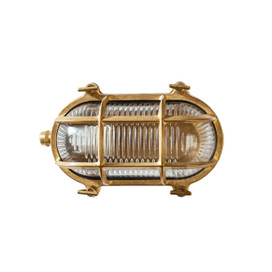 Ceduna Nautical Bulkhead Light in Brass