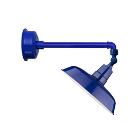 "12"" Oldage LED Sign Light with Metropolitan Arm in Cobalt Blue"