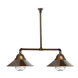 Geraldton Nautical Chandelier Light in Brass