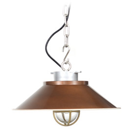 Devonport Nautical Pendant Light - Vintage Brass