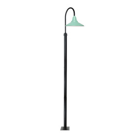 "132"" Calla Barn Post Light with 20"" Shade - Jade"