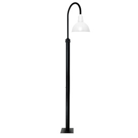 "96"" Blackspot Vintage Street Light with 14"" Shade - White"