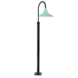 "96"" Calla Vintage Barn Post with 16"" Shade - Jade"