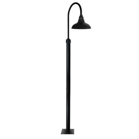 "96"" Dahlia Barn Post with 12"" Shade - Black"