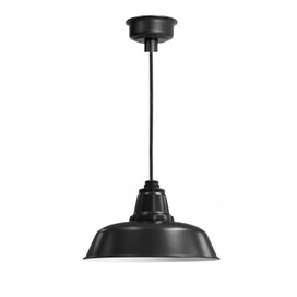 Verizon™ Matte Black LED Barn Pendant Light