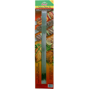 BBQ Skewers Narrow - No Handle - Set of 6- Sadaf
