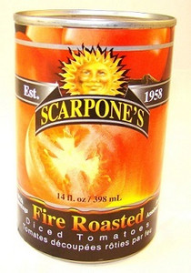 Fire Roasted Diced Tomatoes, (14 oz/ 398 ml) - SCARPONE'S