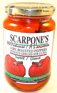 Fire Roasted Peppers,(12 oz/ 340 ml) -SCARPONE'S