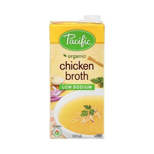 Organic Chicken Broth Low Sodium - Gluten Free  (946 ml) - Pacific