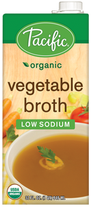 Organic Vegetable Broth Low Sodium - Gluten Free  (1 L) - Pacific