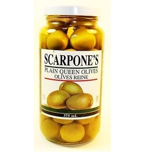 Plain Queen Olives 375 ml - SCARPONE'S